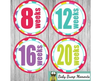 Pregnancy Stickers,  Belly Bump Stickers, Weekly Belly Sticker, Maternity Stickers, Pregnancy Announcement, Pregnancy Reveal
