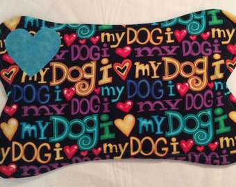 Small Quilted Dog Dish Placemat B
