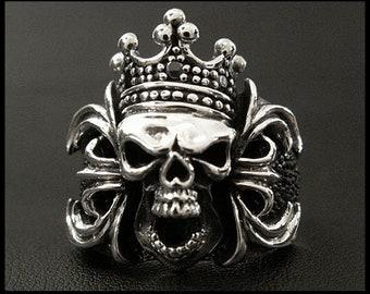 Silver Ring Crowned Skull / Sr0770kr398