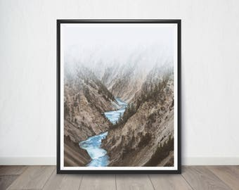 Mountain Landscape, Mountain Print, Mountain Photography, Stream, Stream Photography, Mountain Art, Mountain Poster, Nature Photography
