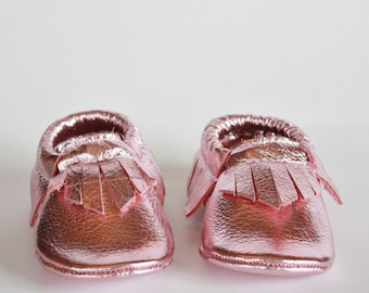 Pretty in Pink Moccasins
