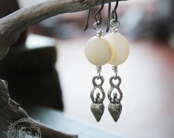 Tiny Moon Dance Goddess Earrings