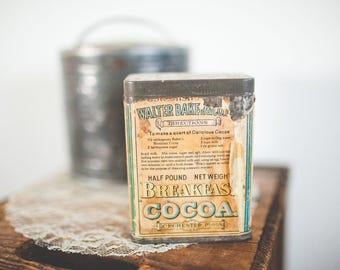 Walter Baker & Co Cocoa Tin