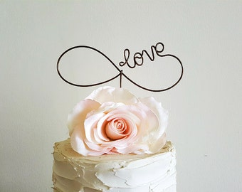 INFINITY Wedding Cake Topper, Wedding Cake Decoration, Bridal Shower Decoration, Anniversary Decoration, Engagement Party Decoration