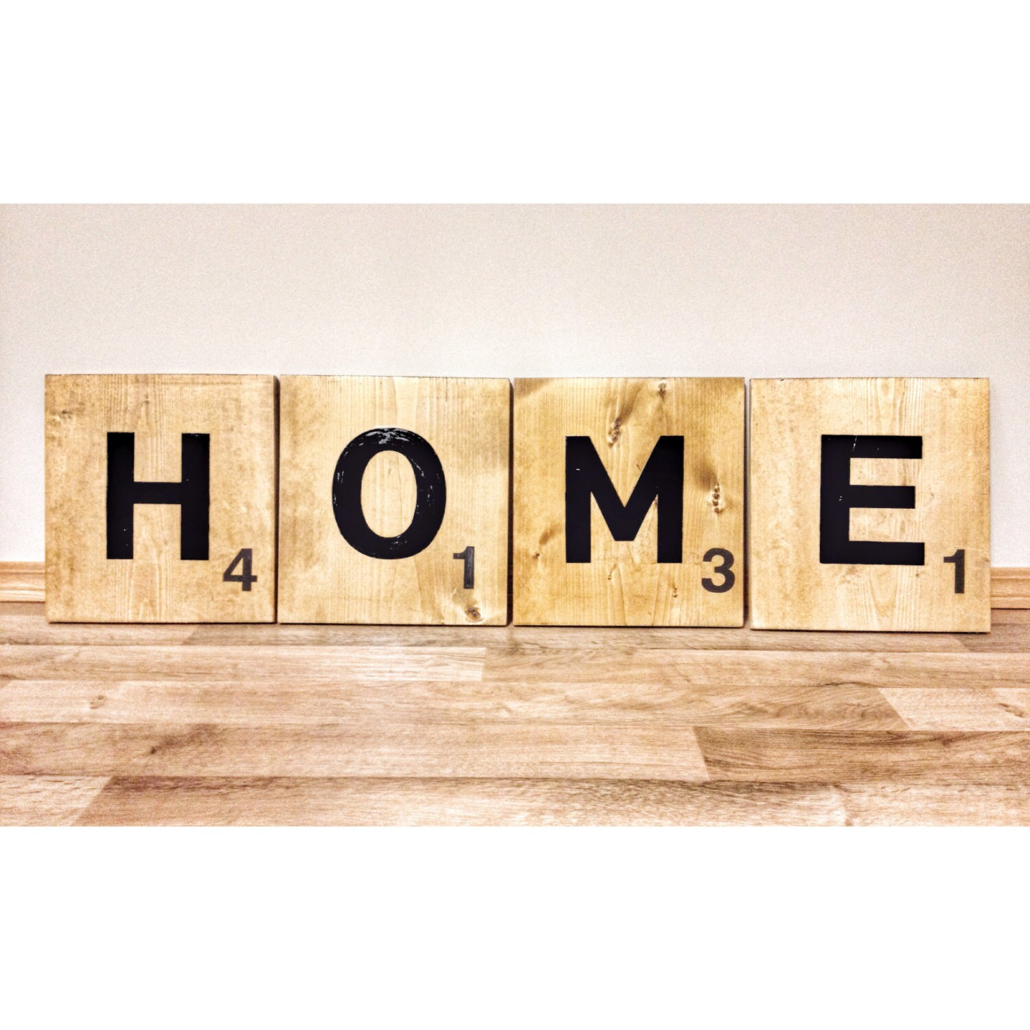 12 Giant Jumbo Scrabble Tile Letters HOME wooden wall decor sign ...