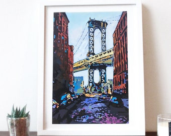 Framed Print: DUMBO Painting
