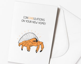 Funny New House Card | Home Owner | Funny Crab Card
