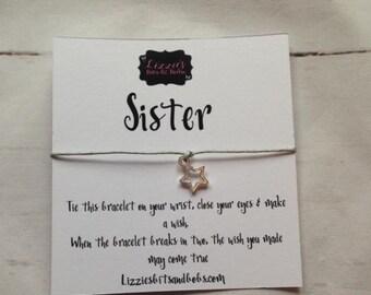 Wish Bracelet with Sister Wish