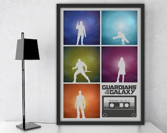 Guardians of the Galaxy Inspired Print / Star Lord / Marvel / Gift /Alternative Film Poster / Professionally Printed