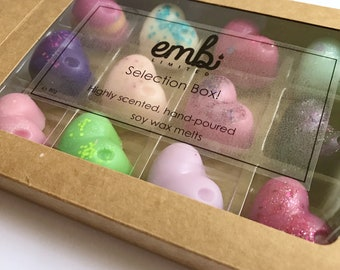Personalised Wax Melt Selection Box / Choose Your Fragrances / Gift / Gift Set