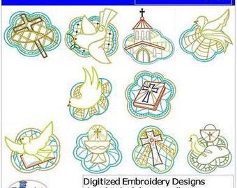 Embroidery Design CD - Christian(2) - 10 Designs - 9 Formats - Threadart