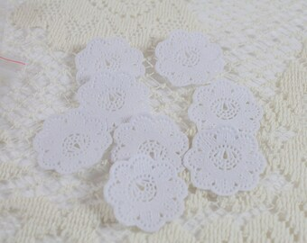 Mini White Paper Doilies - Set of 12