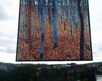 Gustav Klimt - Beech Grove I, Stained Glass