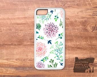 floral iPhone case / watercolor / floral phone case / iPhone 7 case / iPhone 6s case / floral iPhone case / iPhone case / iPhone 6 plus case