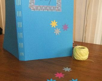 DiY: Blue bookbinding kit