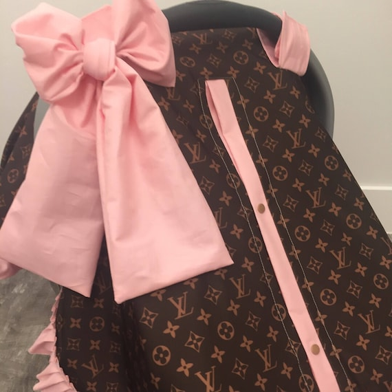 ADD a matching Jumbo bow , car seat canopy bow