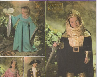 Medieval Costume Pattern Knight Pirate Princess Uncut Boys and Girls 3 - 8 Simplicity 4944