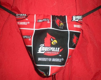 New Men's UNIVERSITY OF LOUISVILLE College Gift Gstring Thong Male Lingerie Underwear
