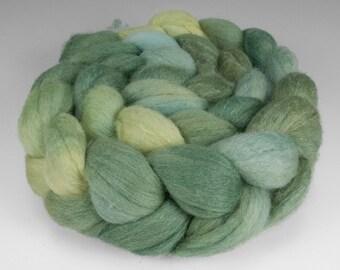 Polwarth Silk Top, Handpainted, 4 oz., Spring Sapling