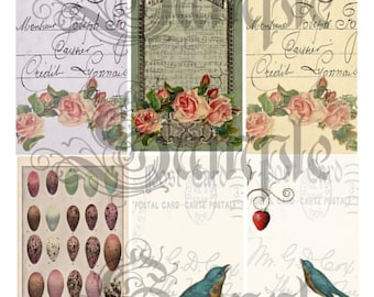 TiffanyJane Tags of Beaute Collage Sheet--For Art--Embellishment--Paper Tags--Scrapbooking-Altered Art--Instant Download