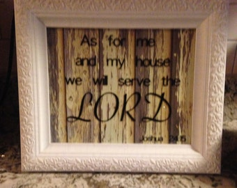 Inspirational Scripture 8x10 Frame (Country, Primitive, Farmhouse Style)