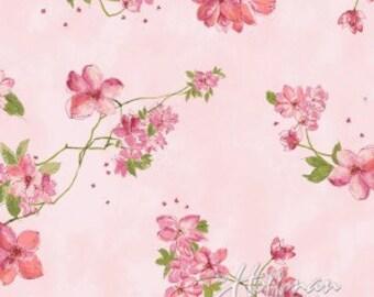 Hoffman Fabric Painted Petals Pink