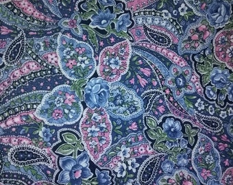 Purple and Blue Paisley Fabric