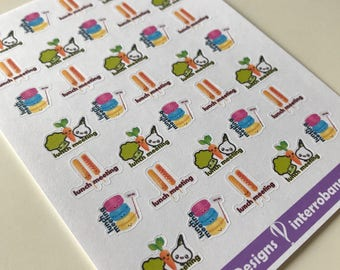 A91 - Lunch Meeting - Planner Stickers - Erin Condren - Happy Planner