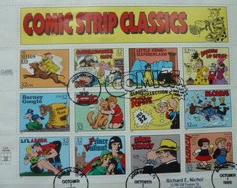 Comic Strip Classics Postage Stamps - Used Stamp Sheet for Collections or for Art Projects