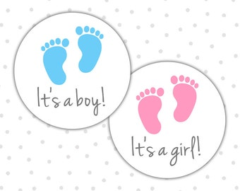 Its a boy stickers - Its a girl stickers - Gender reveal party - Gender reveal stickers - Baby shower stickers (RW017)