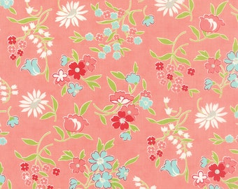 Vintage Picnic - Playful in Coral by Bonnie & Camille for Moda Fabrics