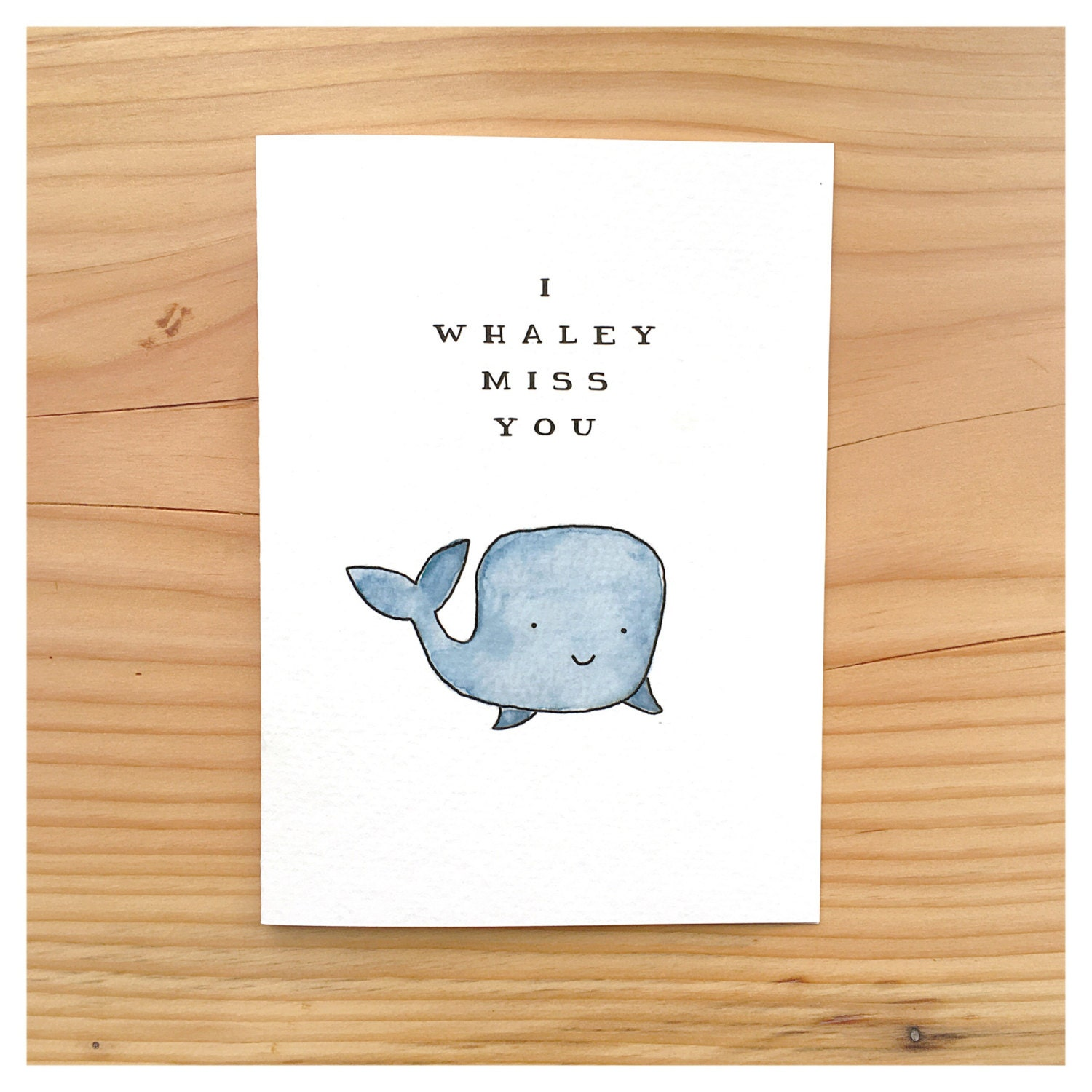 Miss you miss you card cute miss you card cute card whale miss you miss you card cute miss you card cute card whale card pun card cute birthday card funny birthday card for her for him kristyandbryce Image collections