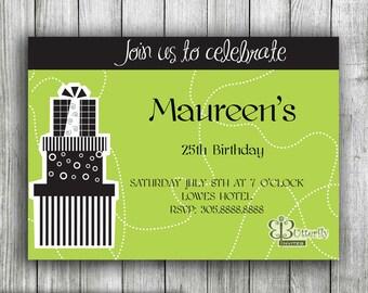 Digital Birthday Invitation - Party Invitations - Custom Invitations - Modern Invitation - Art Birthday Invitation