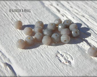 3 Grey Opal X 50 mm Abacus beads