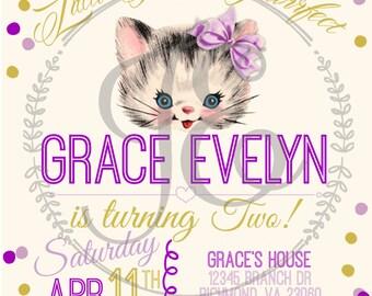 kitten party invitations