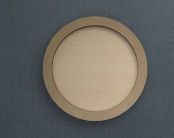 Frame Kit, Round, Wood Frame, Picture Frame, DIY