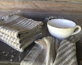 Durable linen tea towel, set of 4 rustic dish towels, thick kitchen towels, hand towel hostess gift kitchen towels dish cloth, tea towel set