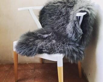 Sheepskin Slate Grey/ Gray Rug with a Dorset story