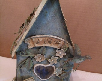 Decoration, Decorative Tin Bird House,(# 16/2)