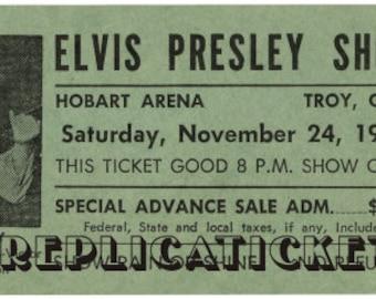 Five 1956-77  Elvis Presley unused paper replica concert tickets Collect, Scrapbook,made in the USA