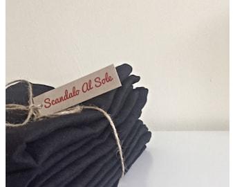 Six DARK GREY LINEN Napkins 46 x 46 cm, pure linen serviettes, linen napkins set, flax linen napkins, table napkins, charcoal linen napkins