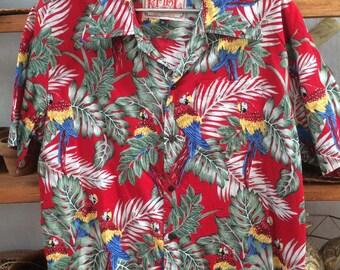 Vintage Hawaiian Parrot Shirts