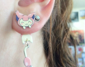 Kawaii Pokemon Skitty Clinging Earrings