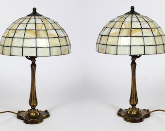 Modern Bedside Lamp Pair, Lamp Pair, Bedside Lamp Pair, Lamp Set, Stained Glass Lamp Pair, Bedside Lamps, Vintage Bedside Lamps