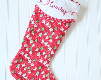 Personalized Christmas Stocking, Musical Christmas Stocking, Snowman Christmas Stocking, Monogrammed Baby Boy Stocking