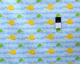 David Walker PWDW075 Beach Wales Coast Cotton Fabric 1 Yd