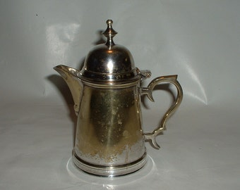 Vintage Antique Silverplated Hinged Creamer or Individual Hot Water Holder or Teapot