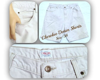 vintage men's shorts,men's denim shorts, casual shorts, men's white shorts, Size 38,    # 34