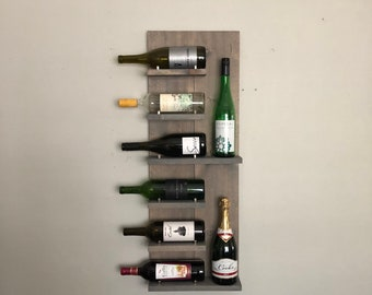 VH Rustic Wine Rack, Spice Rack, Wall Mounted Wine Bottle Holder & Display Shelf