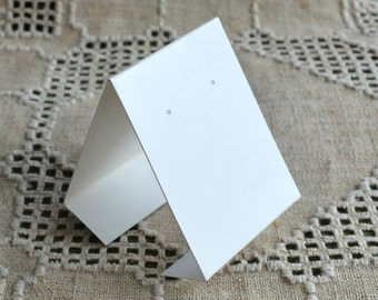 10pcs Earring Card Cream 3x2-1/4 Inches Adhesive and Card Stock Display